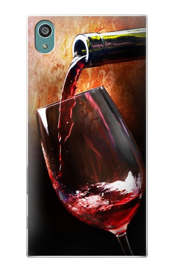 Printed Red Wine Bottle And Glass Sony Xperia Z5 Case