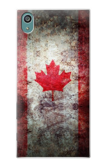Printed Canada Maple Leaf Flag Texture Sony Xperia Z5 Case