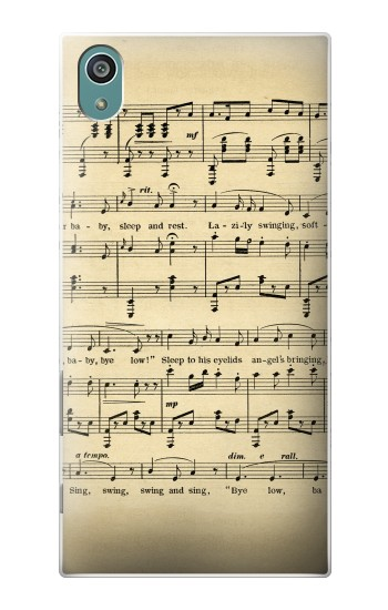 Printed Vintage Music Sheet Sony Xperia Z5 Case
