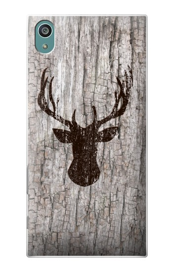 Printed Deer Head Old Wood Texture Sony Xperia Z5 Case