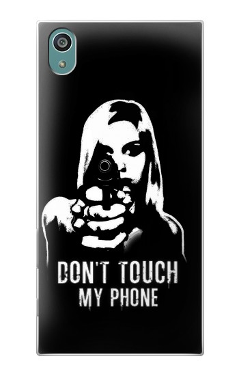 Printed Girl Do Not Touch My Phone Sony Xperia Z5 Case