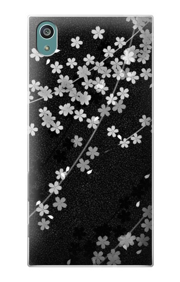 Printed Japanese Style Black Flower Pattern Sony Xperia Z5 Case