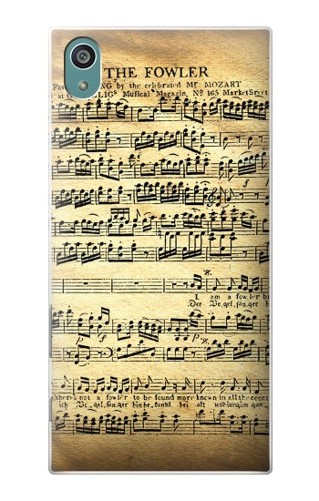 Printed The Fowler Mozart Music Sheet Sony Xperia Z5 Case