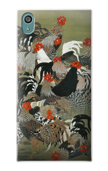 Printed Ito Jakuchu Rooster Sony Xperia Z5 Case