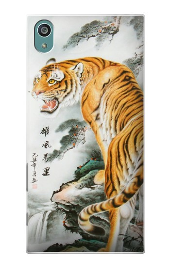 Printed Chinese Tiger Painting Tattoo Sony Xperia Z5 Case