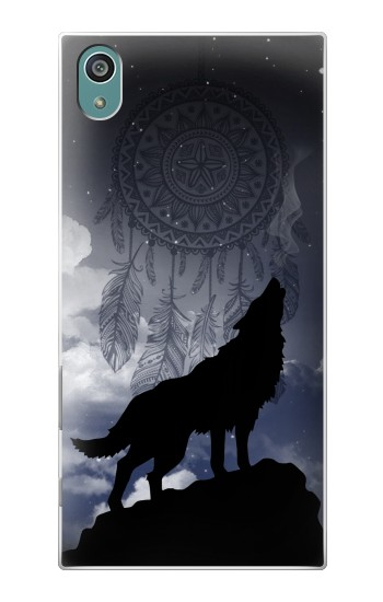 Printed Dream Catcher Wolf Howling Sony Xperia Z5 Case