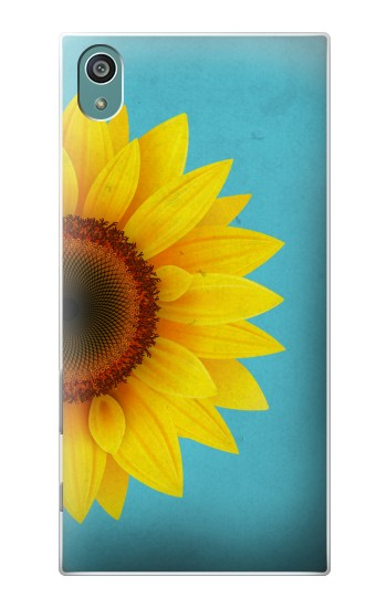 Printed Vintage Sunflower Blue Sony Xperia Z5 Case