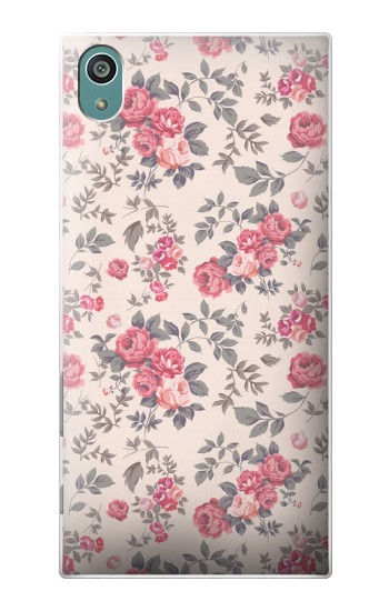 Printed Vintage Rose Pattern Sony Xperia Z5 Case