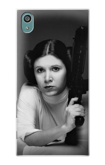 Printed Princess Leia Carrie Fisher Sony Xperia Z5 Case