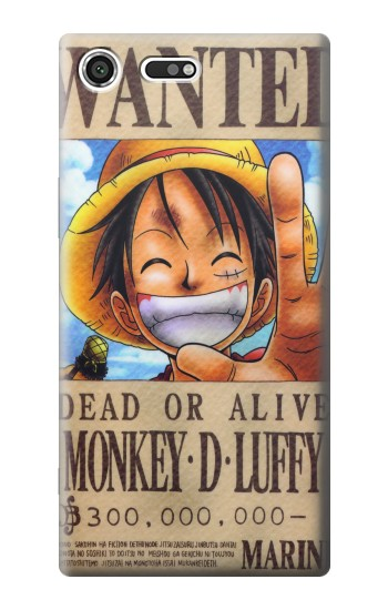 Printed One Piece Monkey D Luffy Wanted Poster Sony Xperia C3 Case