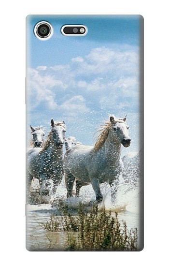 Printed White Horse 2 Sony Xperia C3 Case