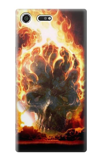 Printed Hell Fire Skull Sony Xperia C3 Case