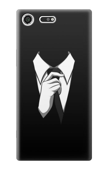 Printed Anonymous Man in Black Suit Sony Xperia C3 Case