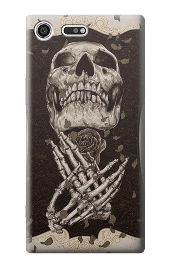 Printed Skull Rose Sony Xperia C3 Case