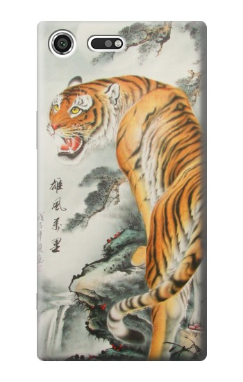 Printed Chinese Tiger Painting Sony Xperia C3 Case