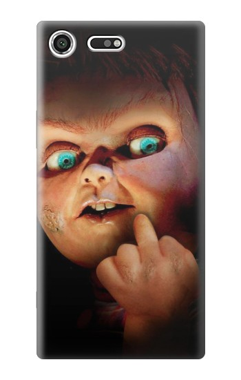 Printed Chucky Middle Finger Sony Xperia C3 Case
