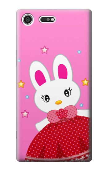 Printed Cute Pink Bunny Cartoon Sony Xperia C3 Case