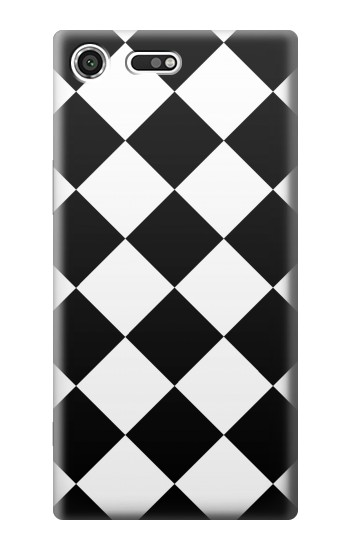 Printed Diamond Pattern Black and White Sony Xperia C3 Case