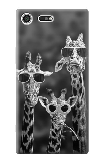 Printed Giraffes With Sunglasses Sony Xperia C3 Case