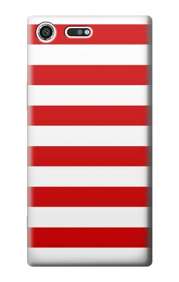 Printed Red and White Striped Sony Xperia C3 Case