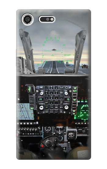 Printed Fighter Jet Aircraft Cockpit Sony Xperia C3 Case