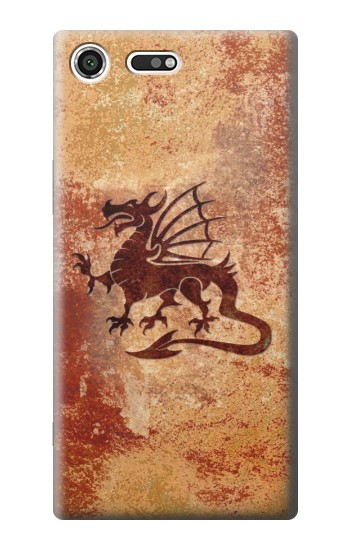 Printed Dragon Metal Texture Sony Xperia C3 Case