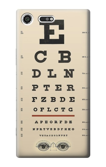 Printed Eye Exam Chart Decorative Decoupage Poster Sony Xperia C3 Case