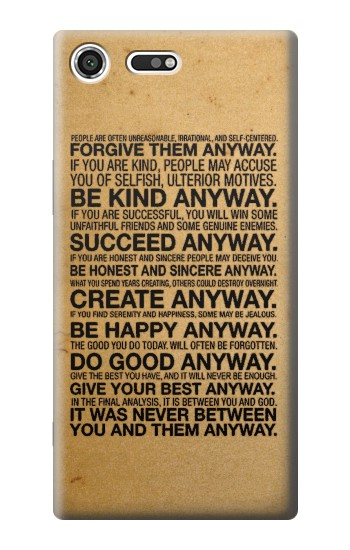 Printed Mother Teresa Anyway Quotes Sony Xperia C3 Case