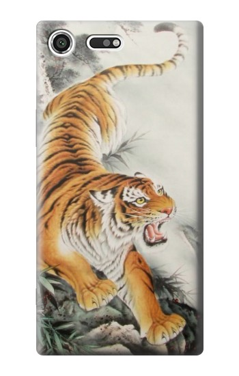 Printed Chinese Tiger Tattoo Painting Sony Xperia C3 Case