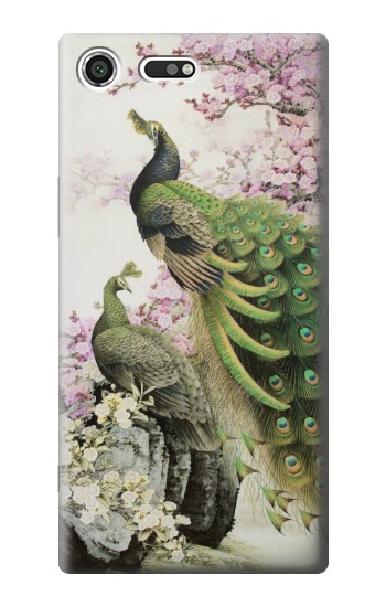 Printed Peacock Chinese Brush Painting Sony Xperia C3 Case