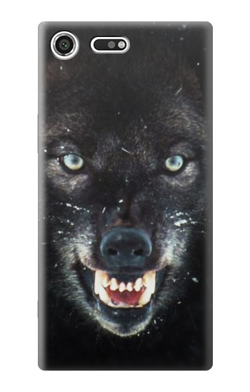 Printed Black Wolf Blue Eyes Face Sony Xperia C3 Case