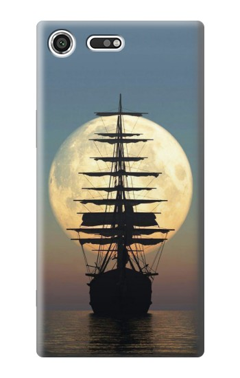 Printed Pirate Ship Moon Night Sony Xperia C3 Case