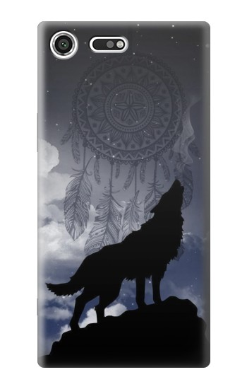 Printed Dream Catcher Wolf Howling Sony Xperia C3 Case