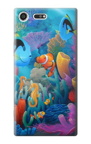 Printed Underwater World Cartoon Sony Xperia C3 Case