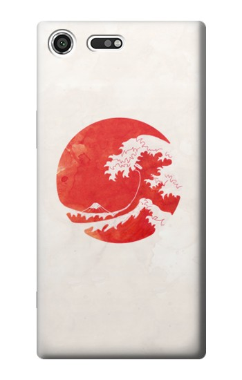 Printed Waves Japan Flag Sony Xperia C3 Case