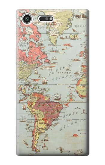 Printed Vintage World Map Sony Xperia C3 Case