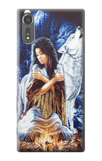 Printed Grim Wolf Indian Girl Sony Xperia C5 Ultra Case