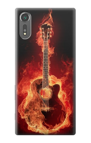 Printed Fire Guitar Burn Sony Xperia C5 Ultra Case
