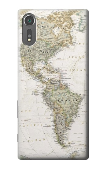 Printed World Map Sony Xperia C5 Ultra Case