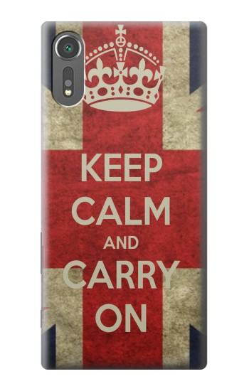 Printed Keep Calm and Carry On Sony Xperia C5 Ultra Case