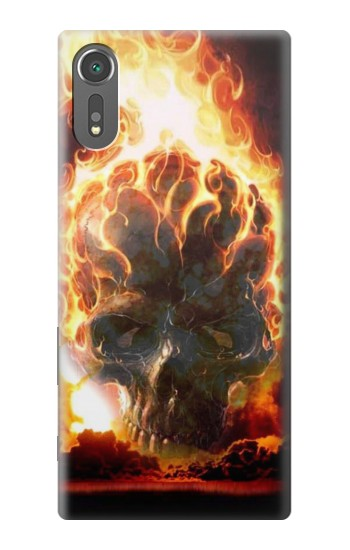 Printed Hell Fire Skull Sony Xperia C5 Ultra Case