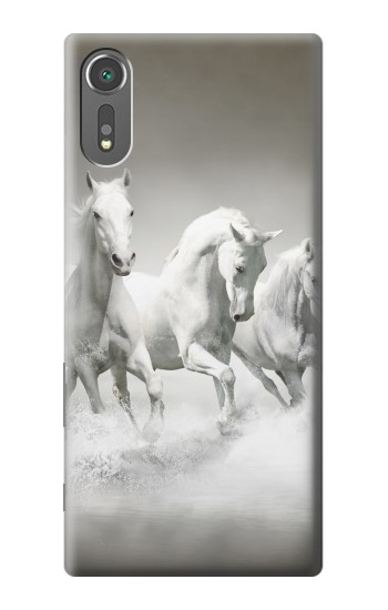 Printed White Horses Sony Xperia C5 Ultra Case