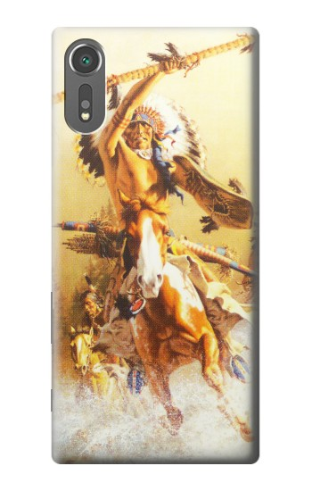 Printed Red Indian Warrior Sony Xperia C5 Ultra Case