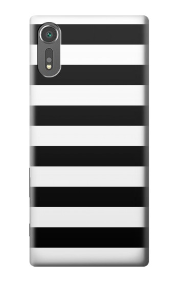 Printed Black and White Striped Sony Xperia C5 Ultra Case