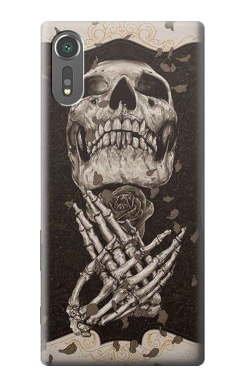 Printed Skull Rose Sony Xperia C5 Ultra Case