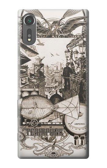 Printed Steampunk Drawing Sony Xperia C5 Ultra Case