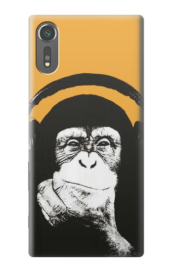 Printed Funny Monkey with Headphone Pop Music Sony Xperia C5 Ultra Case