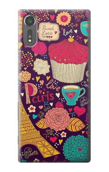 Printed Paris Cartoon Vintage Pattern Sony Xperia C5 Ultra Case