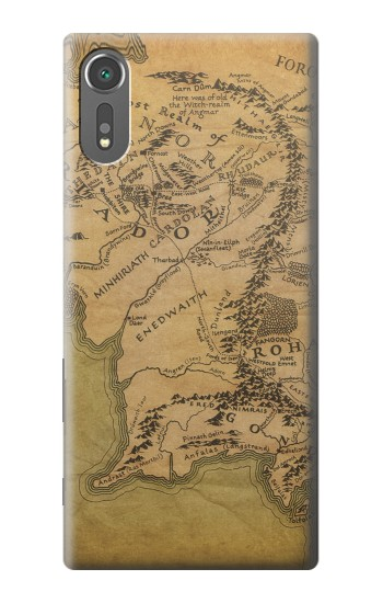 Printed The Lord Of The Rings Middle Earth Map Sony Xperia C5 Ultra Case