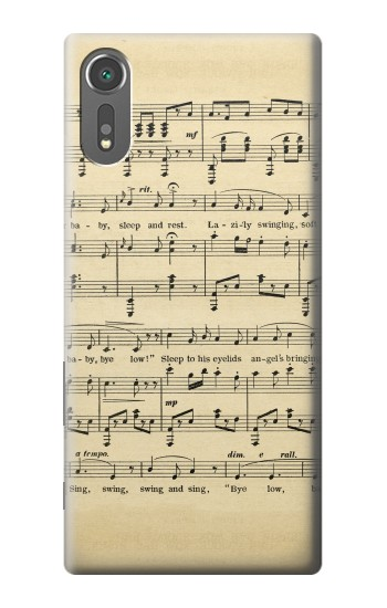 Printed Vintage Music Sheet Sony Xperia C5 Ultra Case
